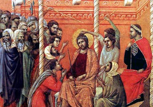 Gesù è coronato di spine  (3 Mistero del dolore)