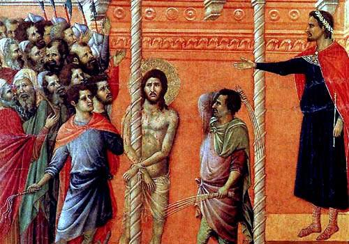 Gesù è flagellato (2 Mistero del dolore)