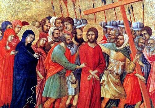 Gesù sale al Calvario ( 4 Mistero del dolore)